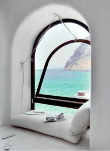 OMG this view.  It's perfect.  The only thing that would make it better is if the window popped all the way out and I could dangle my toes in.