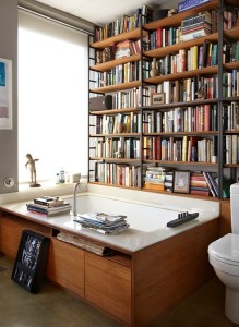 Bathroom library!  What?